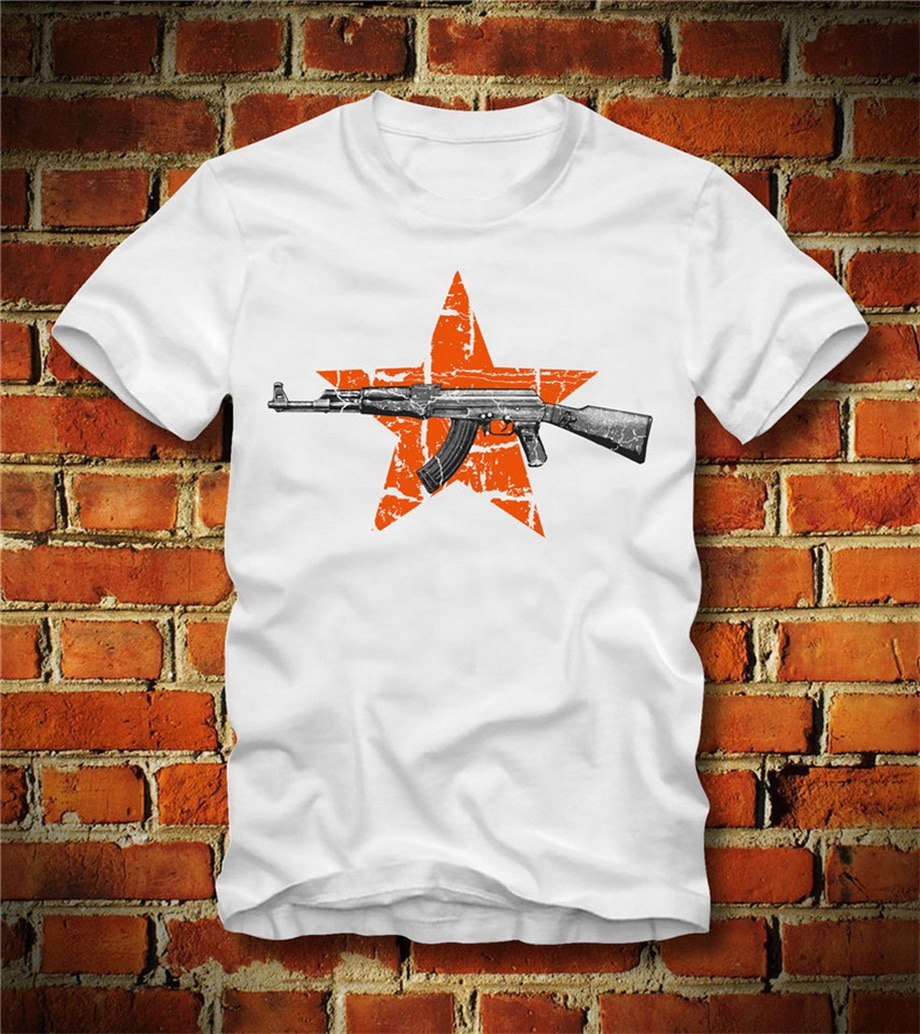 BOARDRIPPAZ Confortable T camisa AK 47 KALASHNIKOV Rusia PUTIN KOMMUNISMUS RUSSLAND STERN 56