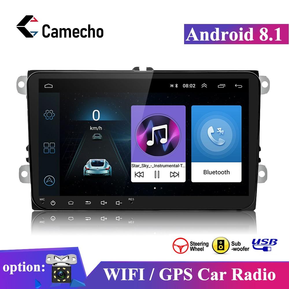 Camecho 2 din Android 8,1 Auto Radio 2Din multimedia Player GPS für Volkswagen Skoda Octavia Golf 5 6 touran passat b6 Jetta polo