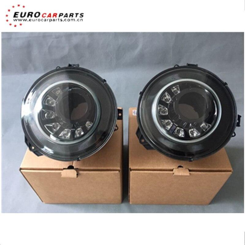 Faros delanteros de cristal G G63 estilo M, en color plata y negro, linterna LED para cabeza aptos para faros delanteros w463 G63 G65 G500 G400 G350
