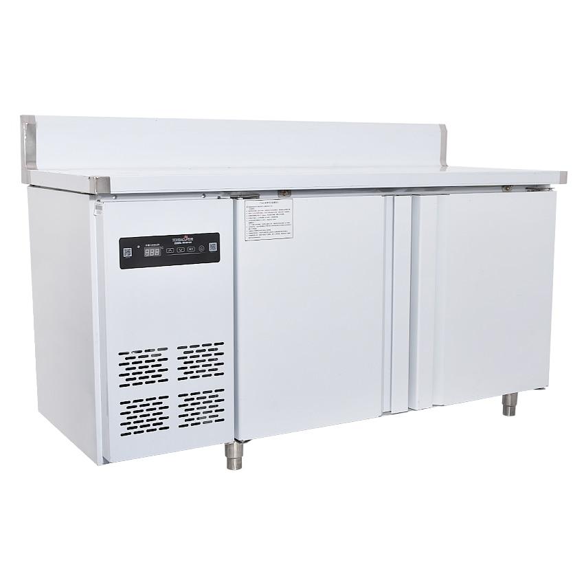 250L Kitchen Stainless Steel Under-Counter Refrigerator Wardrobe Work Plan Commercial Refrigerator Freezer 1.5 M Leng