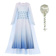 Новое белое платье «Снежная королева 2», «Эльза», Рождественский костюм для девочек, маскарадный костюм «Эльза», детское маскарадное праздн...