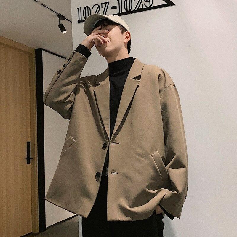 Casual solto sólido blazer masculino inverno fino 2020 streetwear elegante jaqueta de luxo ropa fiesta hombre vestidos roupas casaco kk60xx