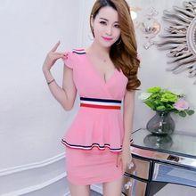 2019 New Night Club Sexy Women's Clothing Hotel Dress Nightclub Covering Belly Thin Sauna Foot Massa