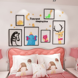 WS23 3D cartoon wall sticker baby room layout background wall sticker self adhesive children's room bedroom bedside decoration