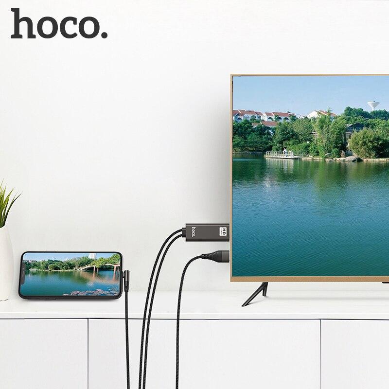 HOCO-Cable adaptador AV Digital compatible con Lightning a HDMI, convertidor inteligente de...