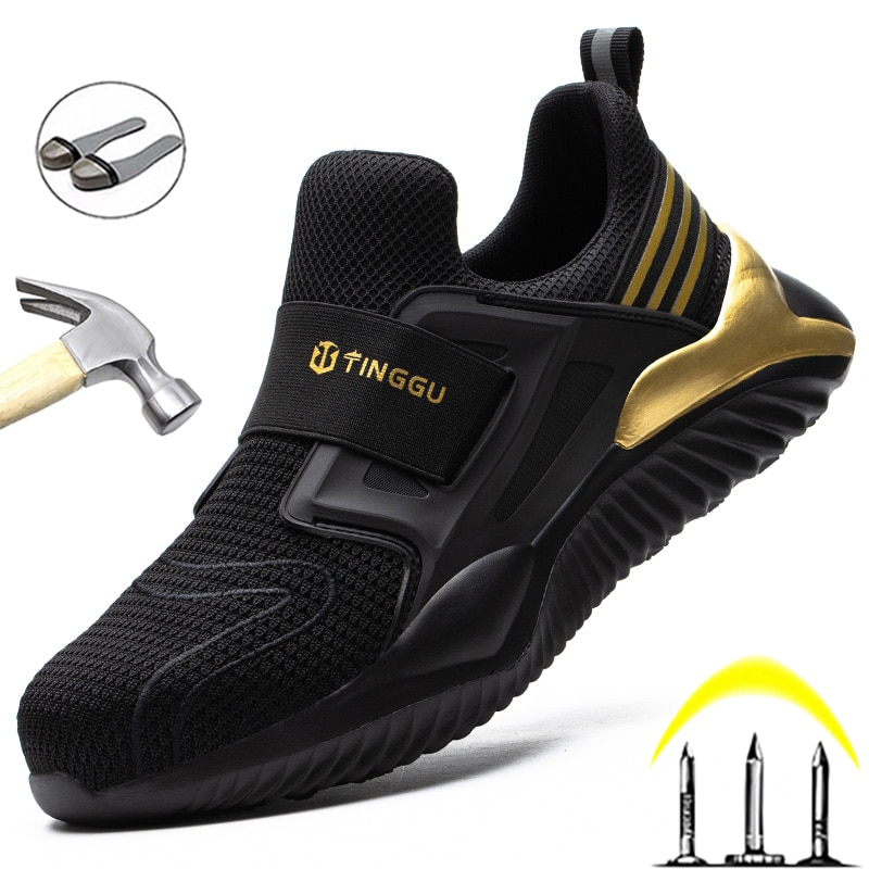 2021 Work Shoes Puncture-Proof Work Sneakers Men Shoes Steel Toe  Indestructible Male Shoes Adult Pr