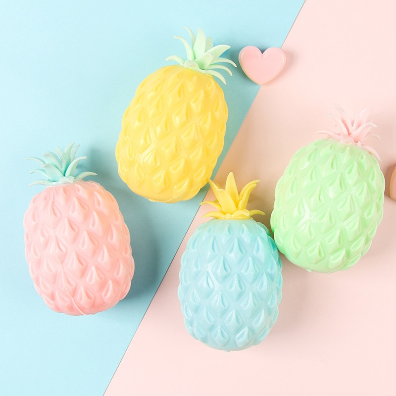 Fun Soft Ananas Anti Stressbal Stress Reliever Speelgoed Voor Kinderen Volwassen Fidget Squishy Antistress Creativiteit Leuke Fr enlarge
