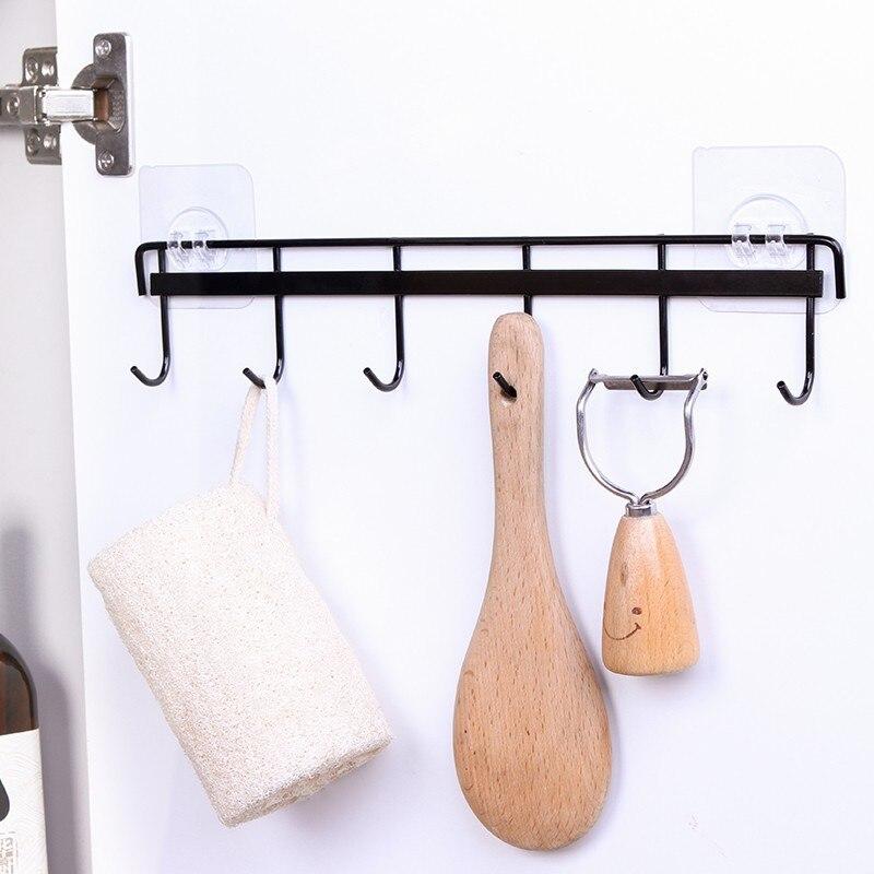 Buraco-perfurado haste de suspensão parede pendurado gua gou jia prateleiras de cozinha espátula colher rack de pano de prato rack de toalha de banho