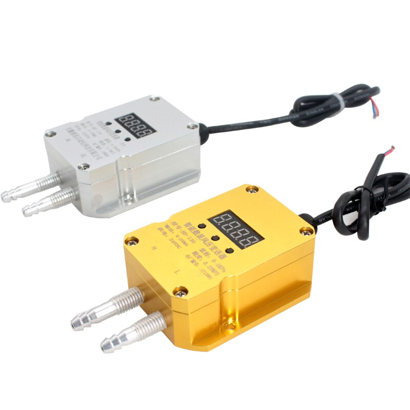 Transmisor de presión diferencial QDF70B 0-10KPa Sensor transmisor de presión diferencial de visualización de Gas de viento, salida de 4-20mA, DC24V