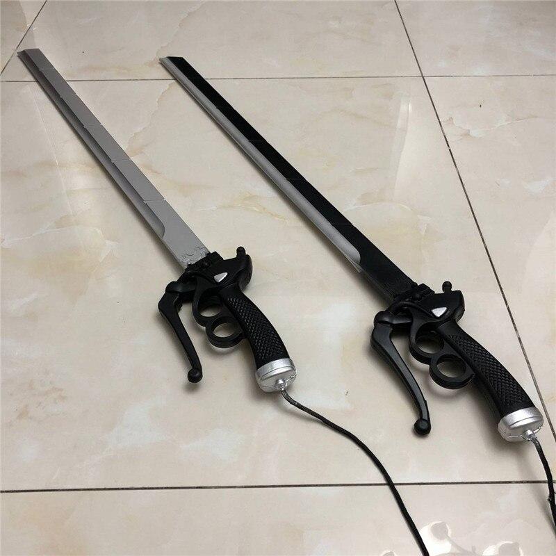 Ataque a Titan Levy Ackerman Cosplay espada de madera simulación arma Prop