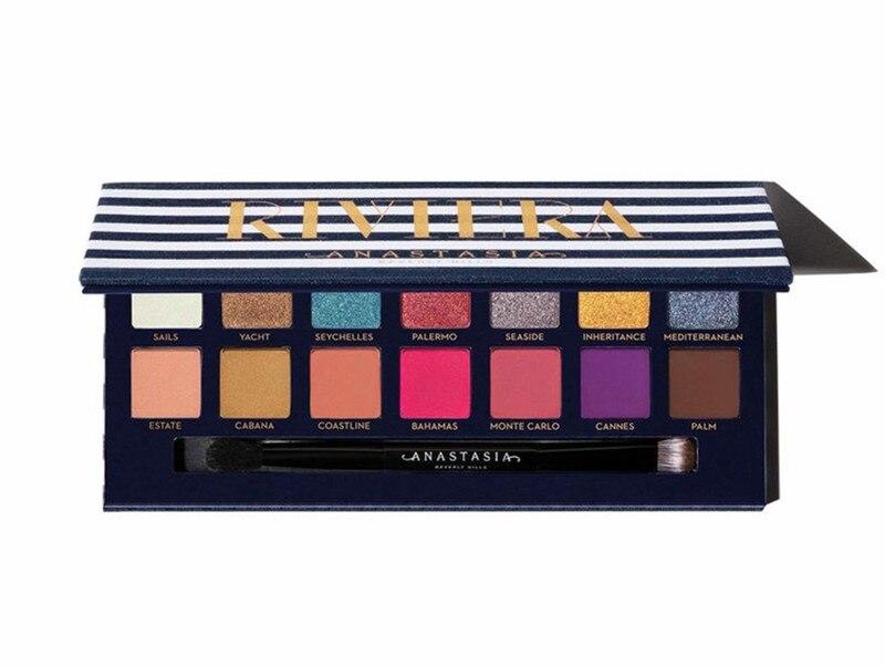 2019 новый комплект для макияжа Anastasia Beverlying hilds RIVIERA палитра пудра светящийся контур хайлайтер Палитра Тени для век