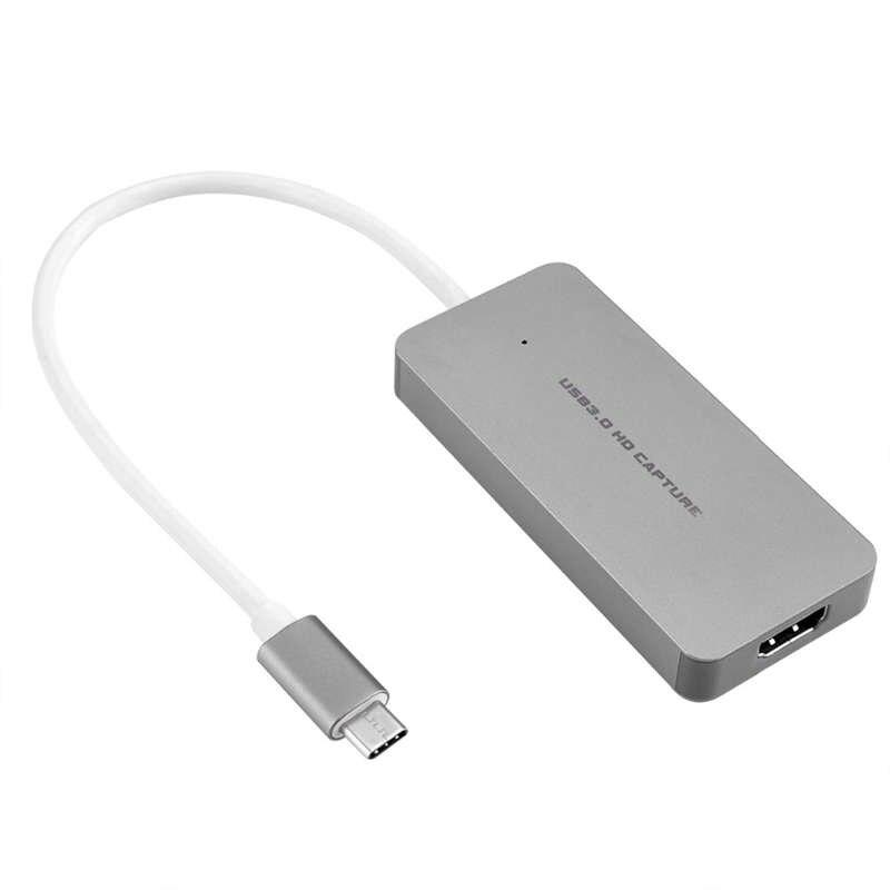 AM05-Hdmi a tipo C juego Hd Tarjeta de captura de vídeo 1080P 60fps Full Hd videograbadora dispositivo para Ps4 Ps3 One/360 Wii U Live Str