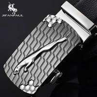 jifanpaul mens leather belt brand design automatic buckle cowhide belt high quality youth casual fashion belt for men