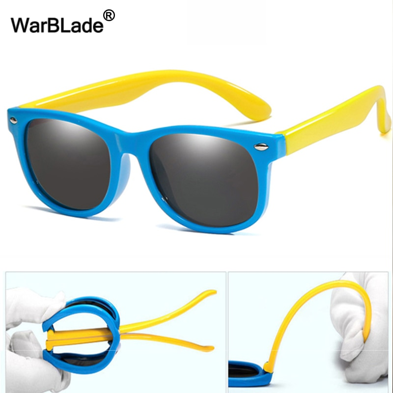 WarBlade Fashion Polarized Kids Sunglasses Silicone Flexible Boys Girls Children Sun Glasses Baby Sh