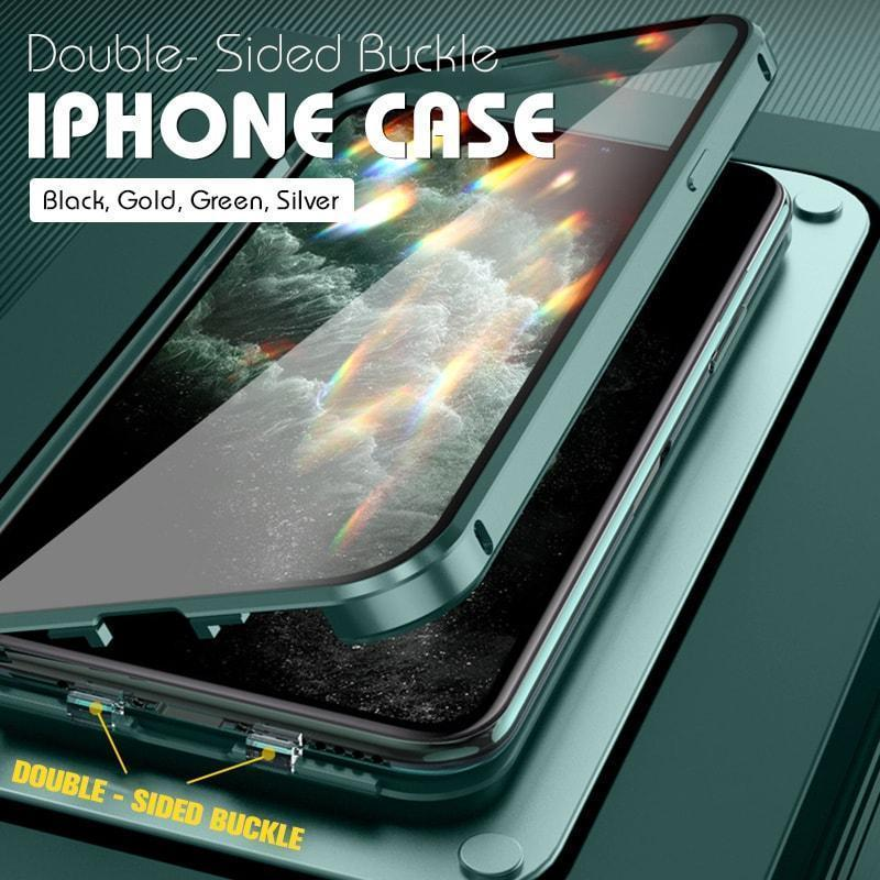 Double-Sided Buckle for iPhone Case Shockproof Hybrid Armor Phone Case For iPhone 11Pro Max