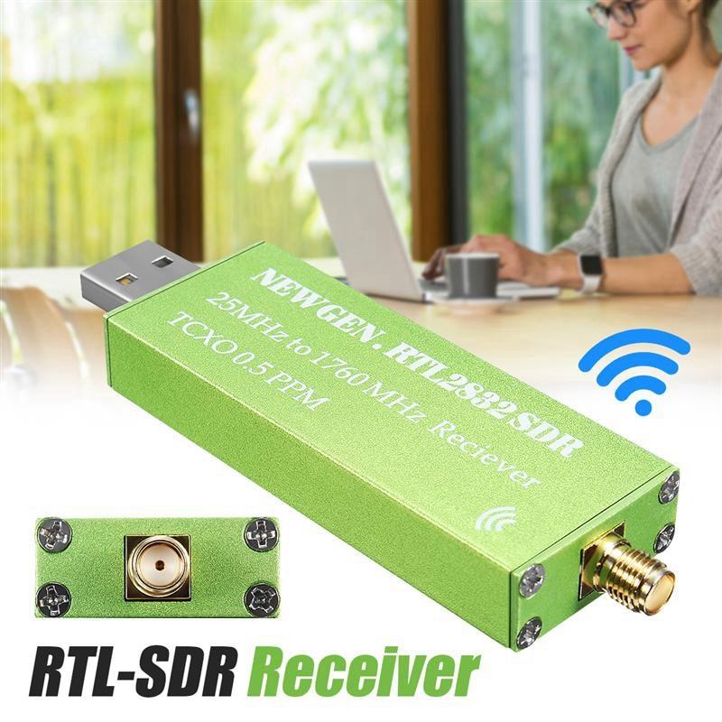 Adaptador usb RTL-SDR rtl2832u + r820t2 + 1ppm tcxo tv sintonizador vara receptor