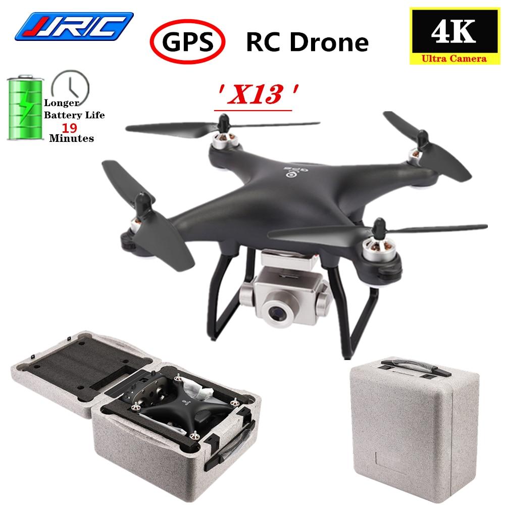 JJRC X13 Motor sin escobillas GPS Drone 5G WiFi FPV 4K CES HD Cámara GPS Dual modo plegable RC Quadcopter del SG906 F11 X12 Drone