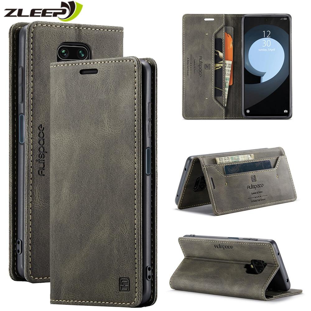 Magnetic Flip Wallet Case For Xiaomi Mi 10T Pro Lite Redmi Note 9 9S 8 Pro Max Luxury Leather Card H