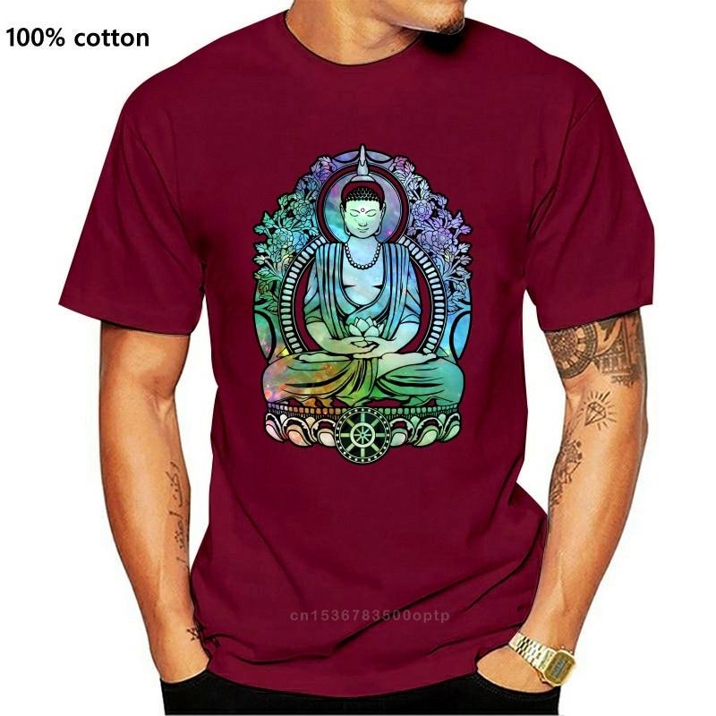 Футболка Cosmic Bodhi мужская с принтом, хлопковая тенниска с круглым вырезом и короткими рукавами, модная летняя одежда для медитации в стиле ретро|Футболки| | АлиЭкспресс