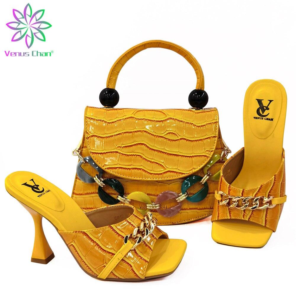 Новые модные туфли и сумочки для вечерние ринки, свадьбы, итальянские туфли и сумки, подходящие к женской обуви и сандалиям в африканском ст...
