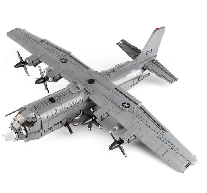 Fuerza Aérea DE LOS EE.UU. militar F35 Fighter AC-130 modelo de artillería bloques de construcción A10 ataque avión ladrillos juguetes regalo para niños