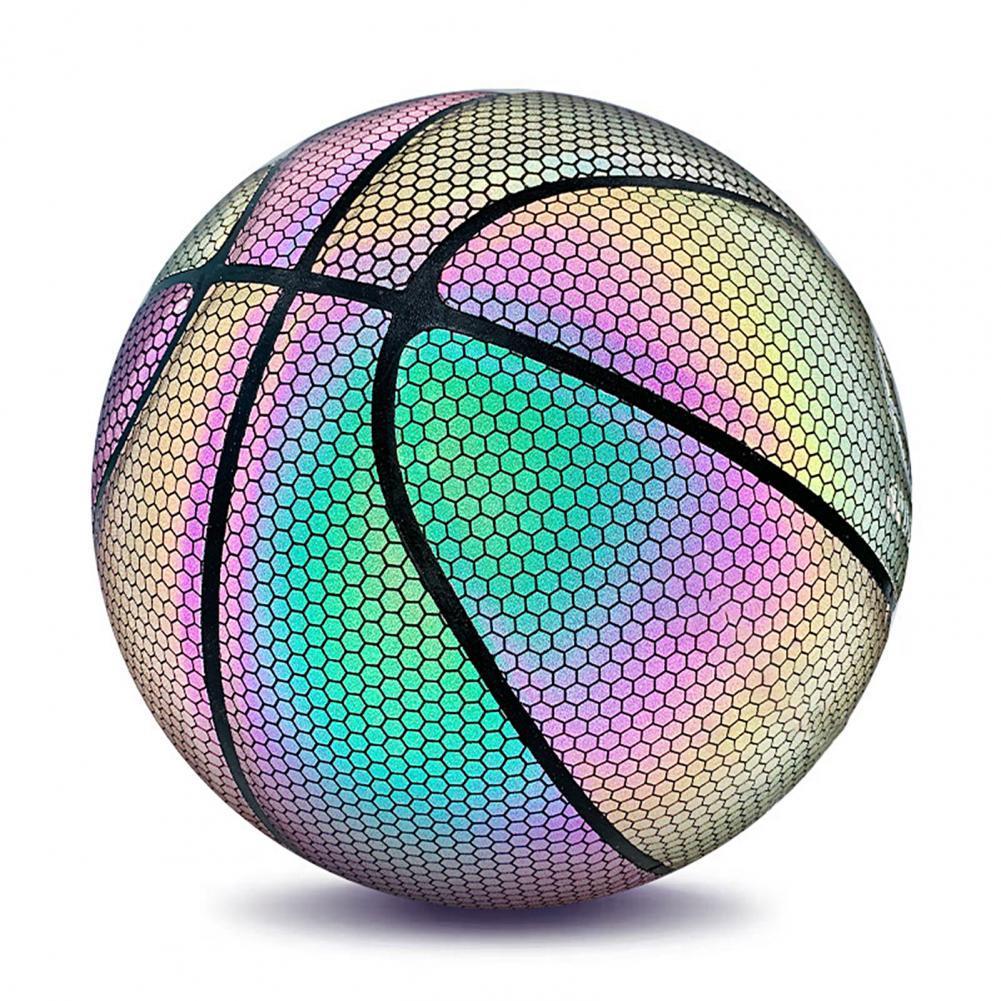 Световой баскетбольный мяч 7 Размеры Светоотражающие Баскетбол крутая голографическая Baloncesto и занятий спортом Баскетбол светильник трени...
