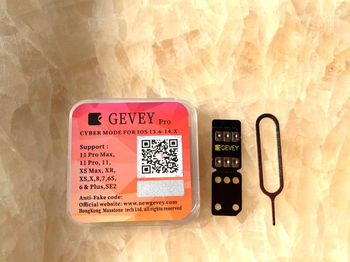 100pcs GEVEY unlock anti-fake original ios14 13.5.x lphone12 11 pro max 11p /11/XR/XS/x/8/7/6/5s/se/se2 unlocking sim chip