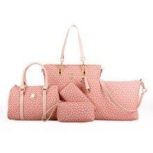 5 ensemble célèbre marque femmes luxe sac à main en cuir PU sac à main sacs épaule messager dames sac à main