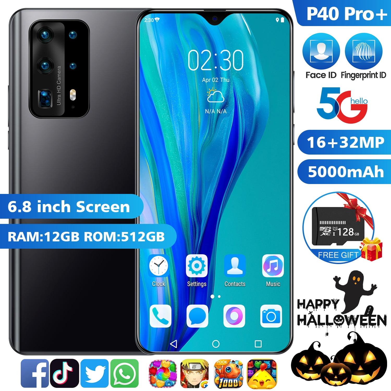 جديد P40 برو + 5G الهاتف الذكي مع شاشة كبيرة 7.0 بوصة يدعم فتح الوجه لهواوي الهاتف المحمول شاومي سامسونج الهاتف المحمول
