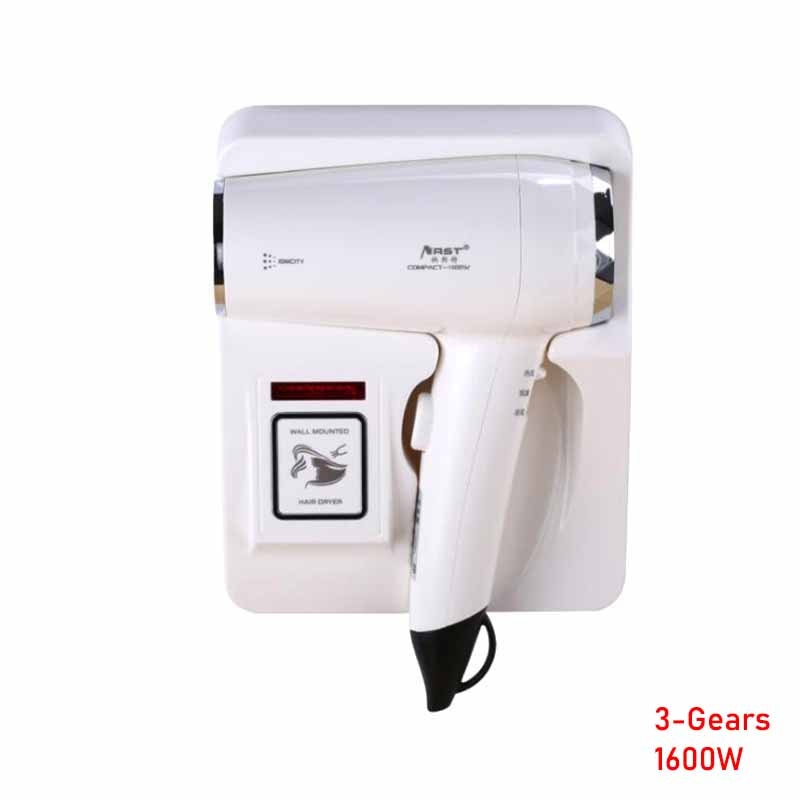 1600W Wall Mounted Hair Dryer for Clubhouse Household Hotel Bathroom Negative ion Electric Fans Hairdryer with Holder Base enlarge