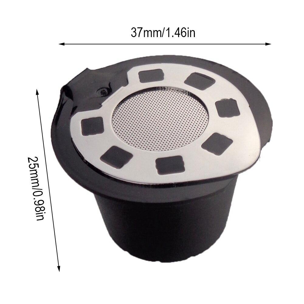 5 قطعة قابلة لإعادة الاستخدام القهوة كبسولة القرون غطاء من الفولاذ المقاوم للصدأ الكروم مطلي إعادة الملء القهوة القرون لآلات القهوة نسبرسو