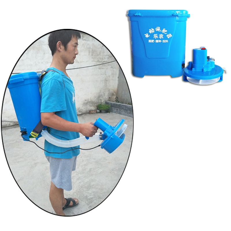 Knapsack electric fertilizer applicator automatic fertilizer applicator fertilizer spreader Throwing Feeding machine 20L