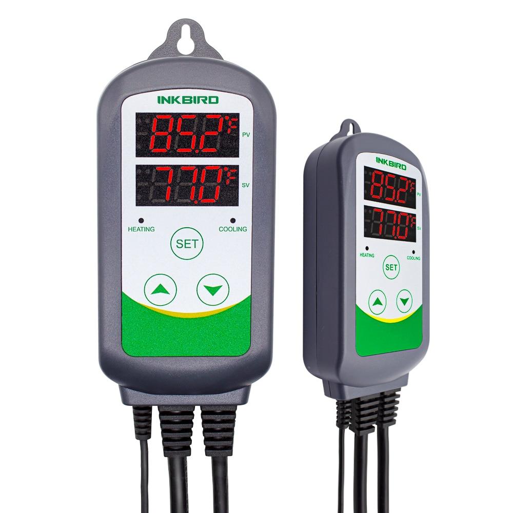 Цифровой регулятор температуры Inkbird ITC-308, термостат для нагрева и охлаждения, карбоновый, ферментер, Террариум для теплицы.