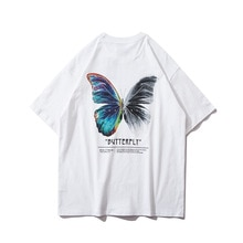 Men's Fashion 2021 hot style Street Wear Harajuku Butterfly T-Shirt Hip-Hop Extra Large T-Shirt