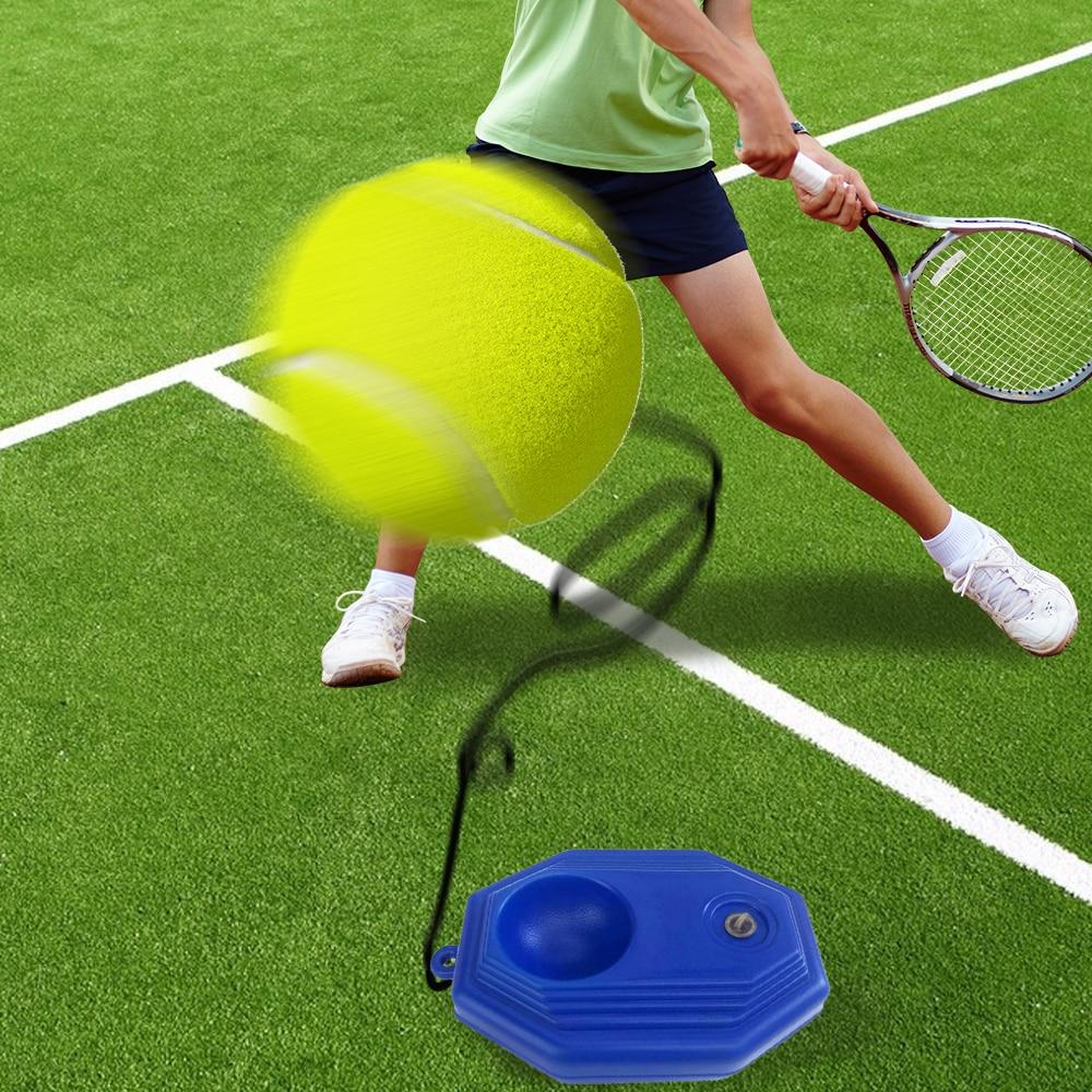 Сверхмощный тренировочный инструмент для тенниса с эластичным тросом 3 мяча