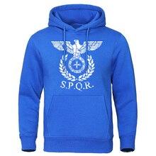 SPQR Roman Eagle Hoodies Men Brand Sweatshirts 2019 Autumn Winter Man Hoodie Casual Tops Sportwaer Pullovers Quality Tracksuit