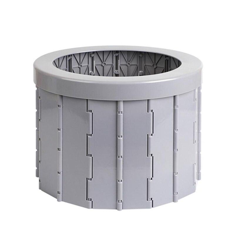 Asiento de inodoro portátil Plegable para coche Camping senderismo WC Plegable impermeable...
