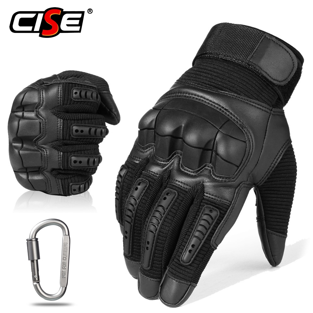 Touch Screen Leather Motorcycle Gloves Motocross Tactical Gear Moto Motorbike Biker Protective Gear Racing Full Finger Glove Men