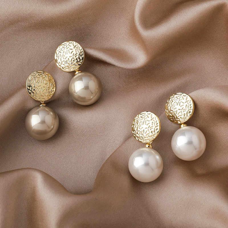 Korean Pearl Earrings For Women Simple All Match Pendientes 2020 Fashion Jewelry Stud Earrings Aliexpress