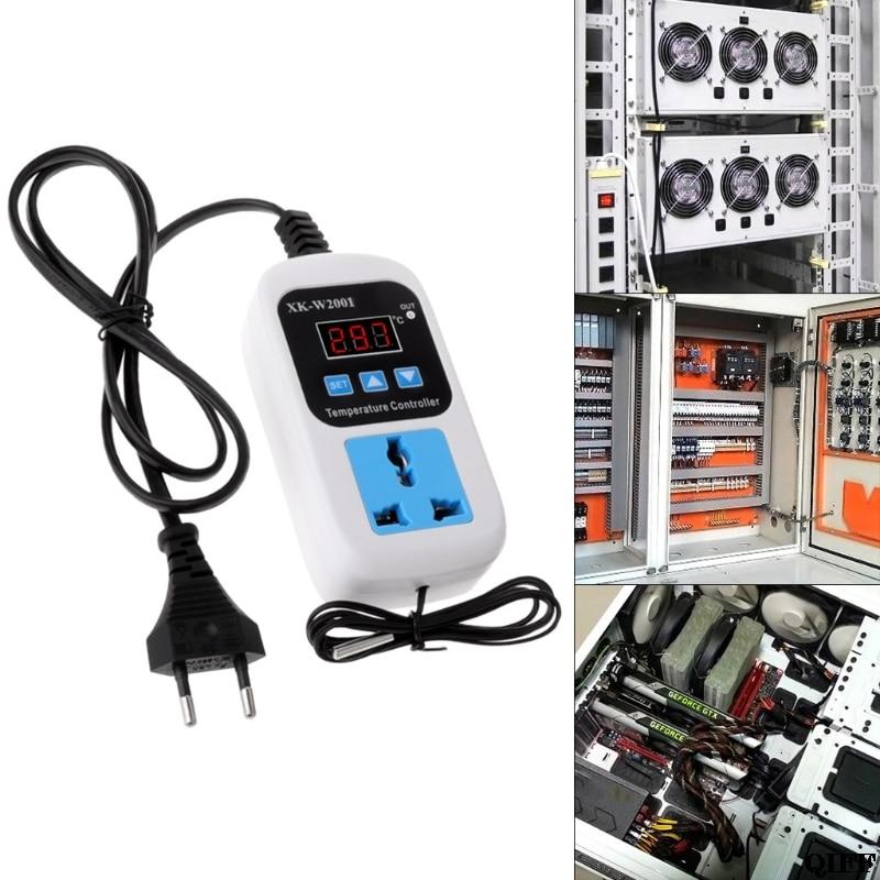 Цифровой термостат-50 ~ 110C регулятор температуры Переключатель AC110-220V с гнездом