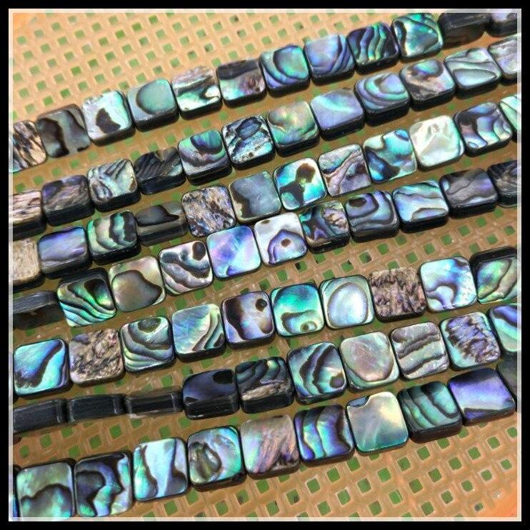 50 piezas de cuentas de concha de abulón natural tamaño de forma...