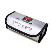 185x75x60mm Fireproof Lipo Battery Bag Fireproof Portable Explosion-Proof Airforth Lipo Battery for