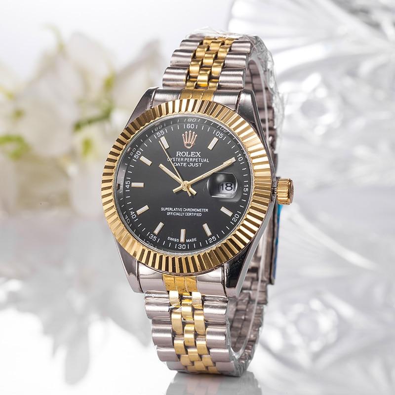 A05 New Hot high quality Rolex- Luxury brand Men Women Quartz Watch Fashion Gift Gold Casual Mens Wo