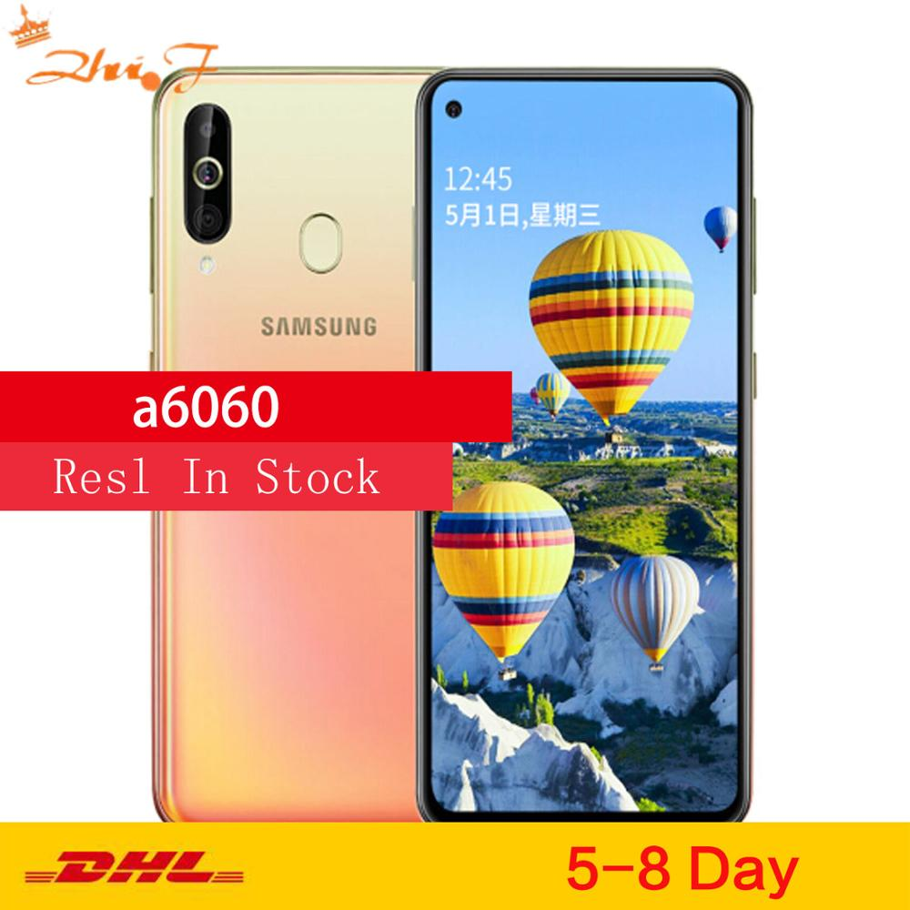 "Samsung Galaxy A60 A6060 LTE teléfono móvil 6,3 ""6G RAM 128GB ROM Snapdragon 675 Octa Core 32.0MP + 8MP + 5MP cámara trasera del teléfono"