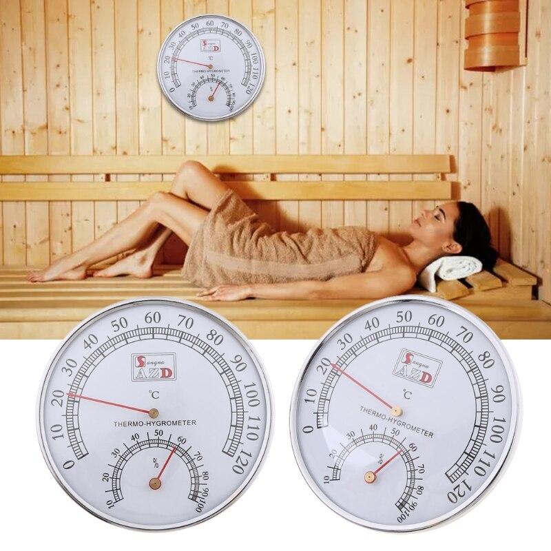 Термометр C90D для сауны, металлический чехол, комнатный термометр для паровой сауны, гигрометр для ванной и сауны, для использования в помеще...