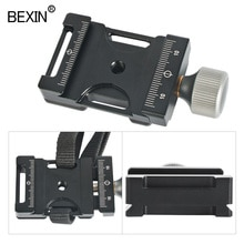 Camera Quick Release Plaat Clamp Dslr Schouderriem Seat Belt Klem Adapter Statiefkop Klem Voor Arca Zwitserse Bal Hoofd