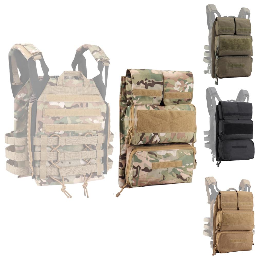 Colete tático mochila zip-on painel acessório saco placa transportadora bolsa para jpc 2.0 colete