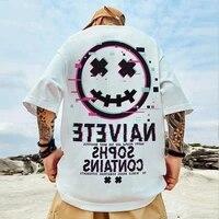 m 8xl summer t shirt mens harajuku tops streetwear smiley casual short sleeve oversized tops tshirts males tops tees