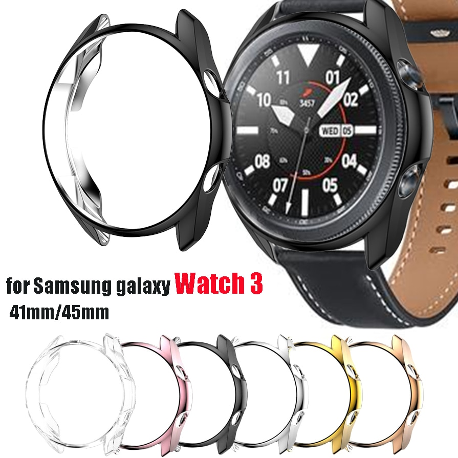 Protective Case for Samsung Galaxy Watch 3 45mm 41mm Watch3 Soft TPU Protective Bumper Cases Watch A