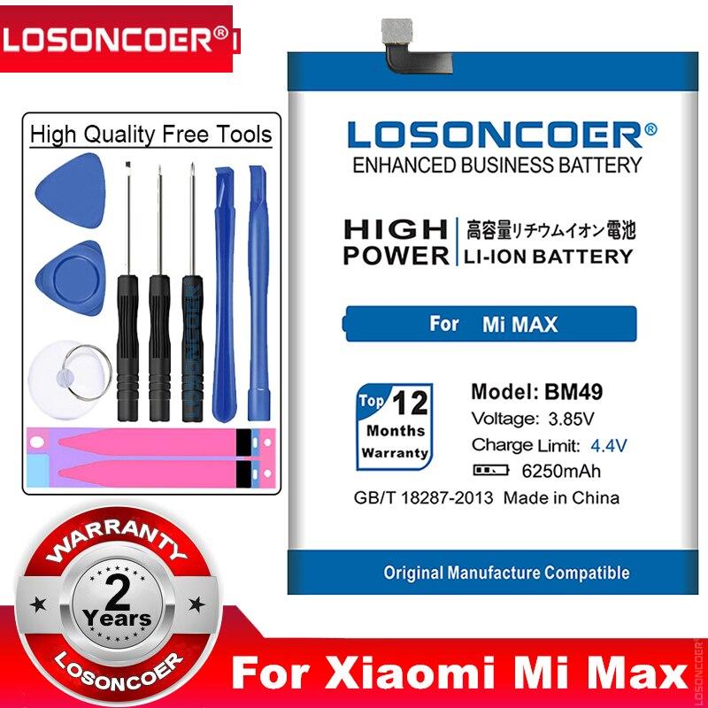 LOSONCOER BM49 batería de 6250mAh para Xiaomi Mi Max